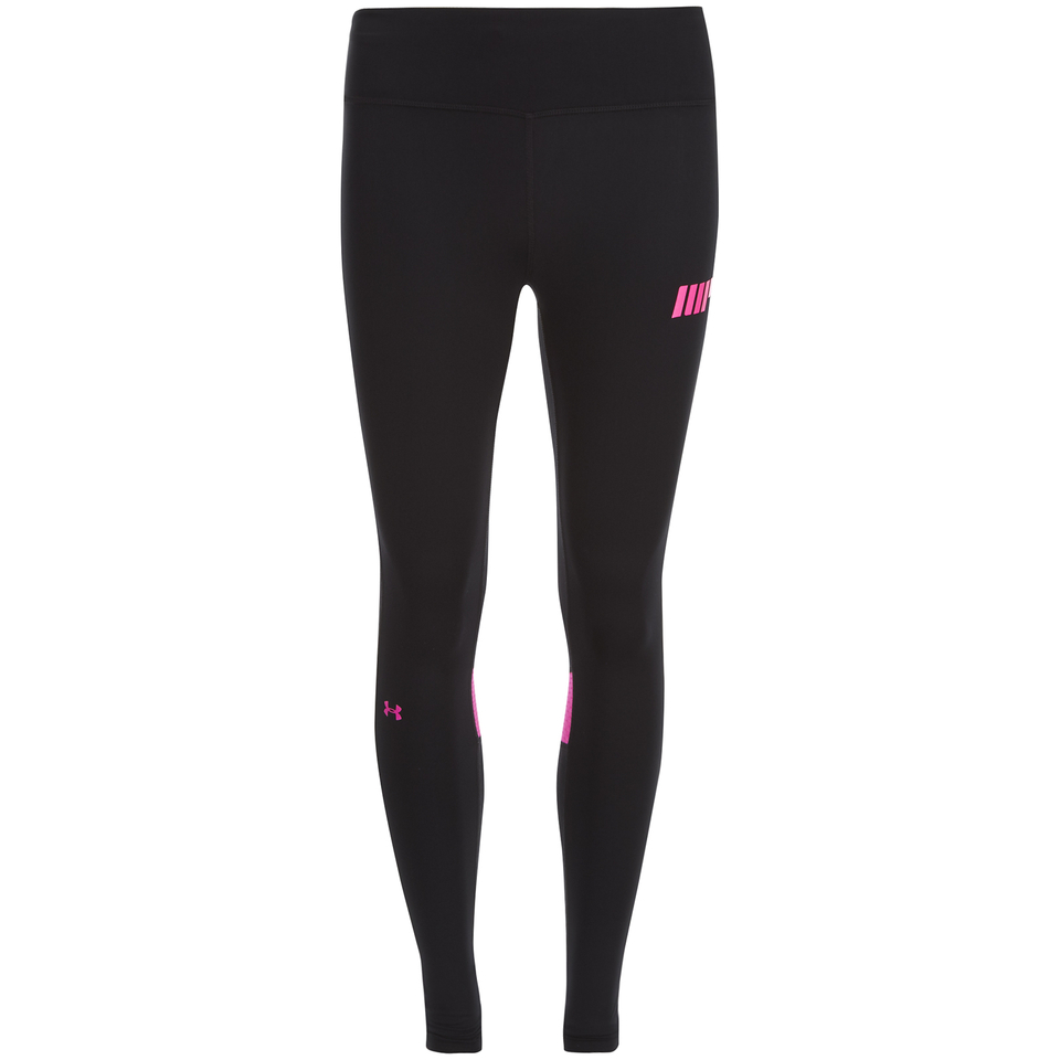 Foto Under Armour Women's Fly By Leggings - Black/Pink - UK 10