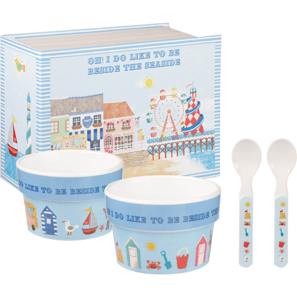 little-rhymes-beside-the-seaside-4-piece-melamine-ice-cream-set