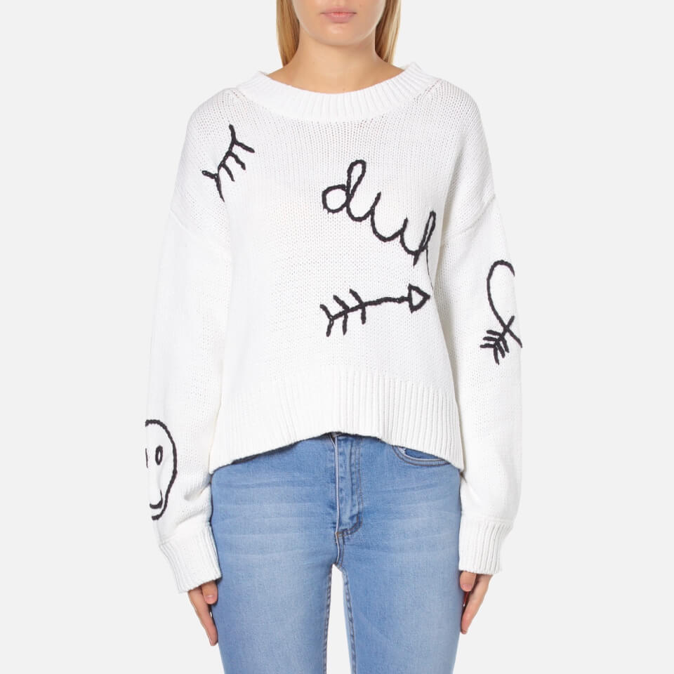 wildfox-women-yr-dreams-duh-jumper-white-xs