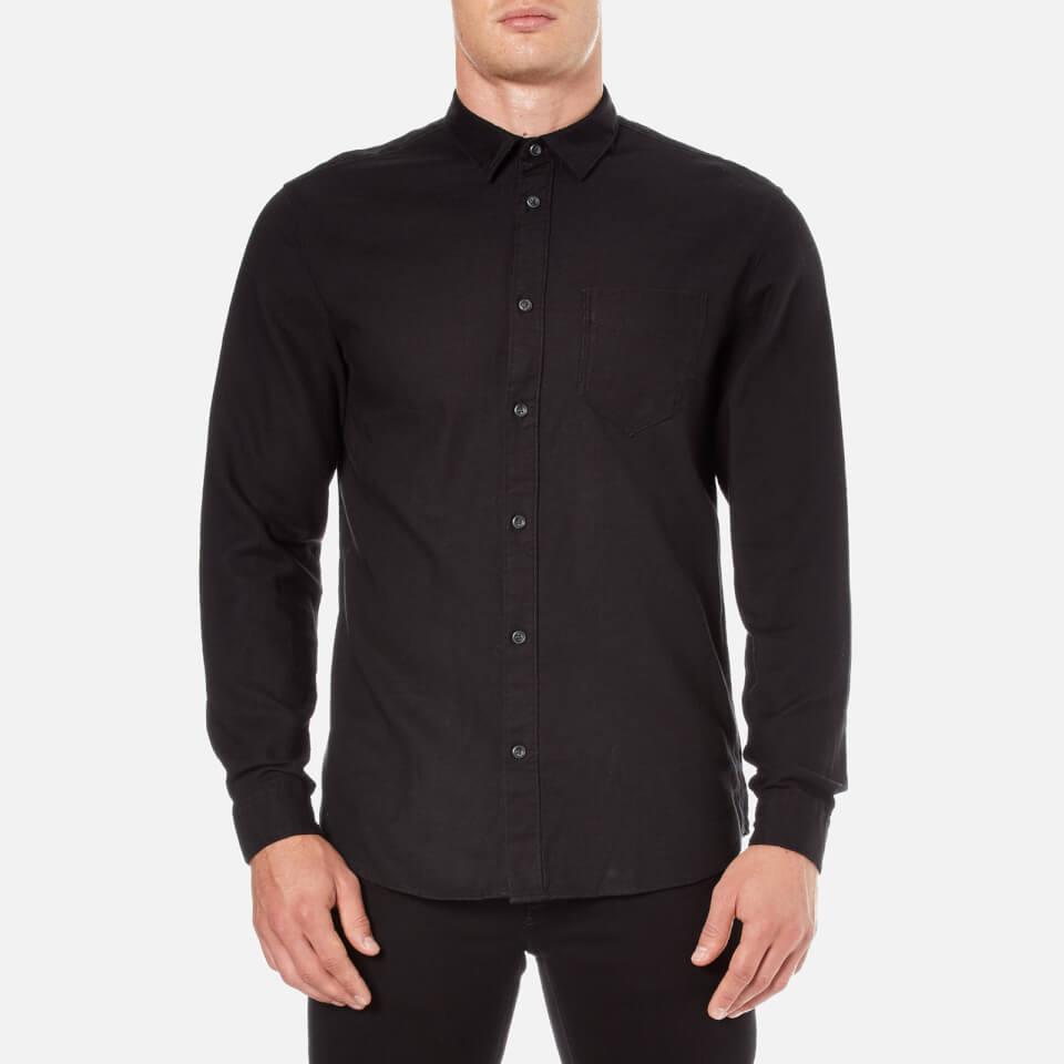 selected-homme-men-woken-long-sleeve-shirt-black-s