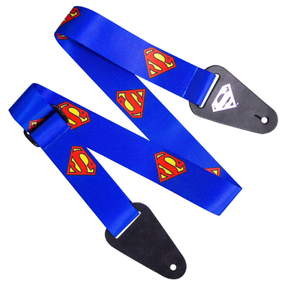 superman-logo-fabric-guitar-strap