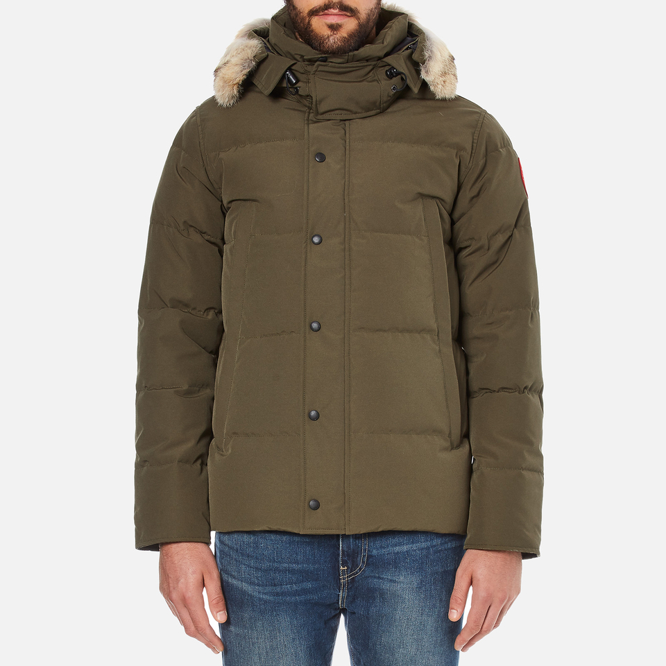 Canada Goose Men S Wyndham Parka Military Green Free