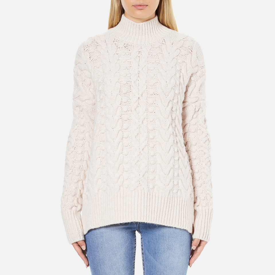 superdry s cable knit jumper womens