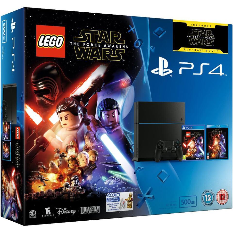 sony-playstation-4-500gb-includes-lego-star-wars-the-force-awakens-star-wars-the-force-awakens-blu-ray