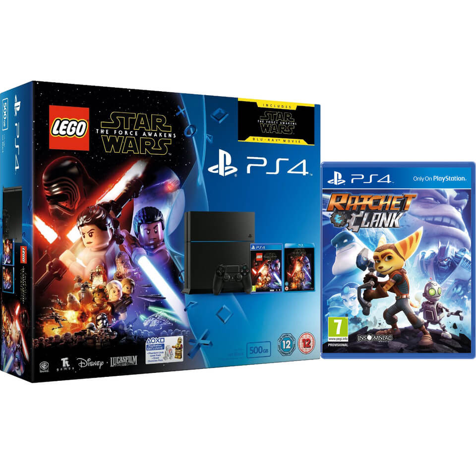 sony-playstation-4-500gb-includes-lego-star-wars-the-force-awakens-star-wars-the-force-awakens-ratchet-clank
