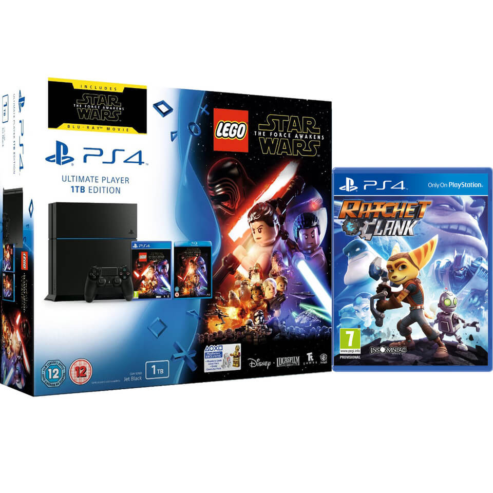 sony-playstation-4-1tb-includes-lego-star-wars-the-force-awakens-star-wars-the-force-awakens-ratchet-clank