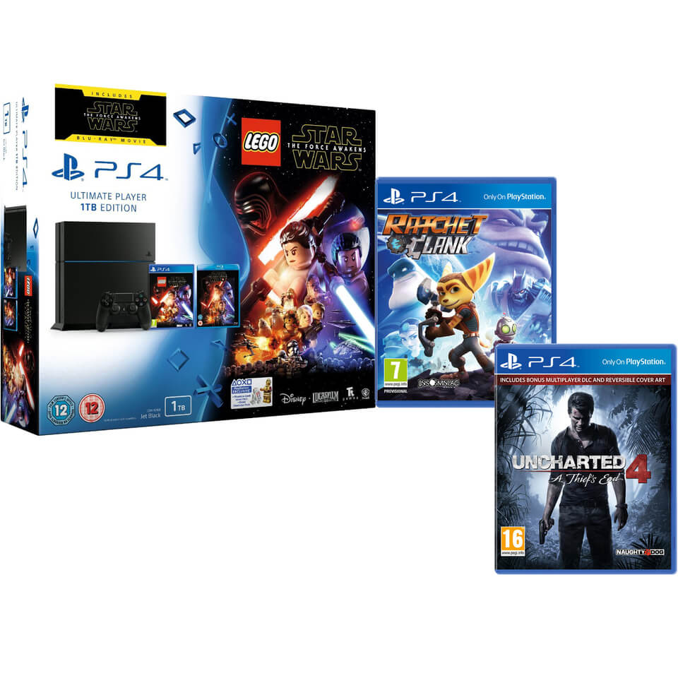 sony-playstation-4-1tb-includes-lego-star-wars-the-force-awakens-star-wars-the-force-awakens-ratchet-clank-uncharted-4