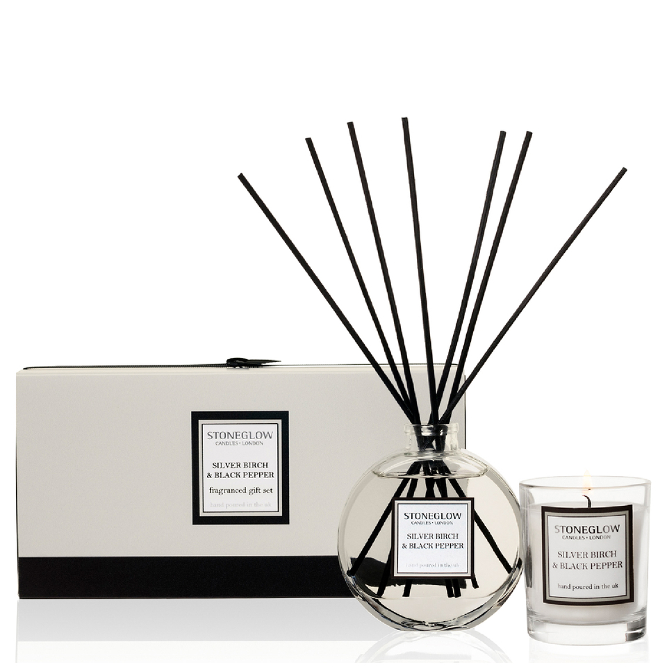 stoneglow-silver-birch-black-pepper-candle-reed-gift-set
