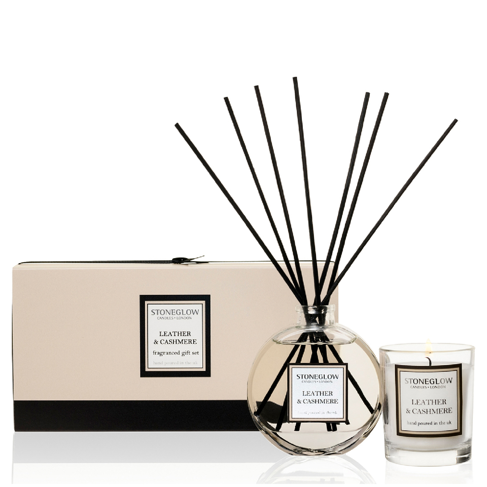 stoneglow-leather-cashmere-candle-reed-gift-set