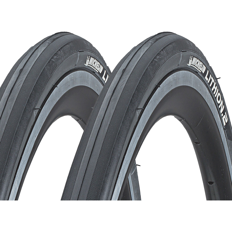 michelin-lithion-2-clincher-tyre-twin-pack-greyblack-700c-x-23mm