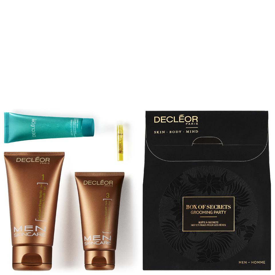 Decléor Herrenpflege Men Skincare Geschenkset Men Skincare Apès-Rasage Apaisant 75 ml + Exfoliant peau Nette 5 ml + Alguaromes 30 ml + Aromessence Triple Action Rasage 1 ml 1 Stk.