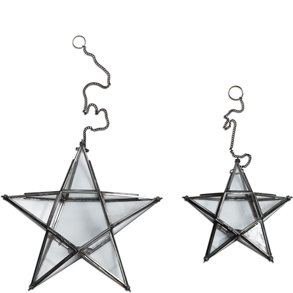 nkuku-small-glass-hanging-star-antique-zinc