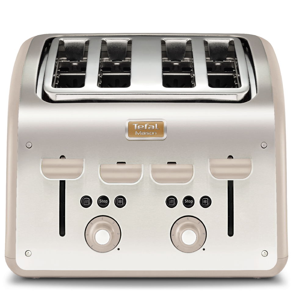 tefal-maison-tt770auk-stainless-steel-4-slice-toaster-oatmeal-grey