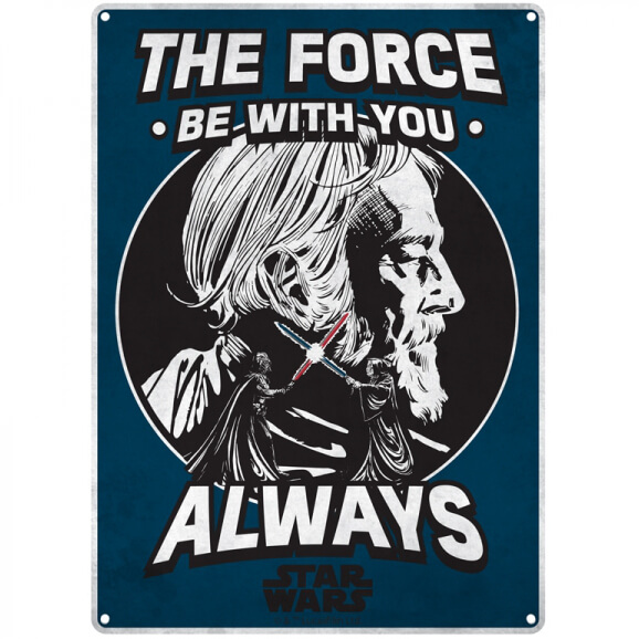 star-wars-the-force-small-tin-sign-29cm-x-42cm