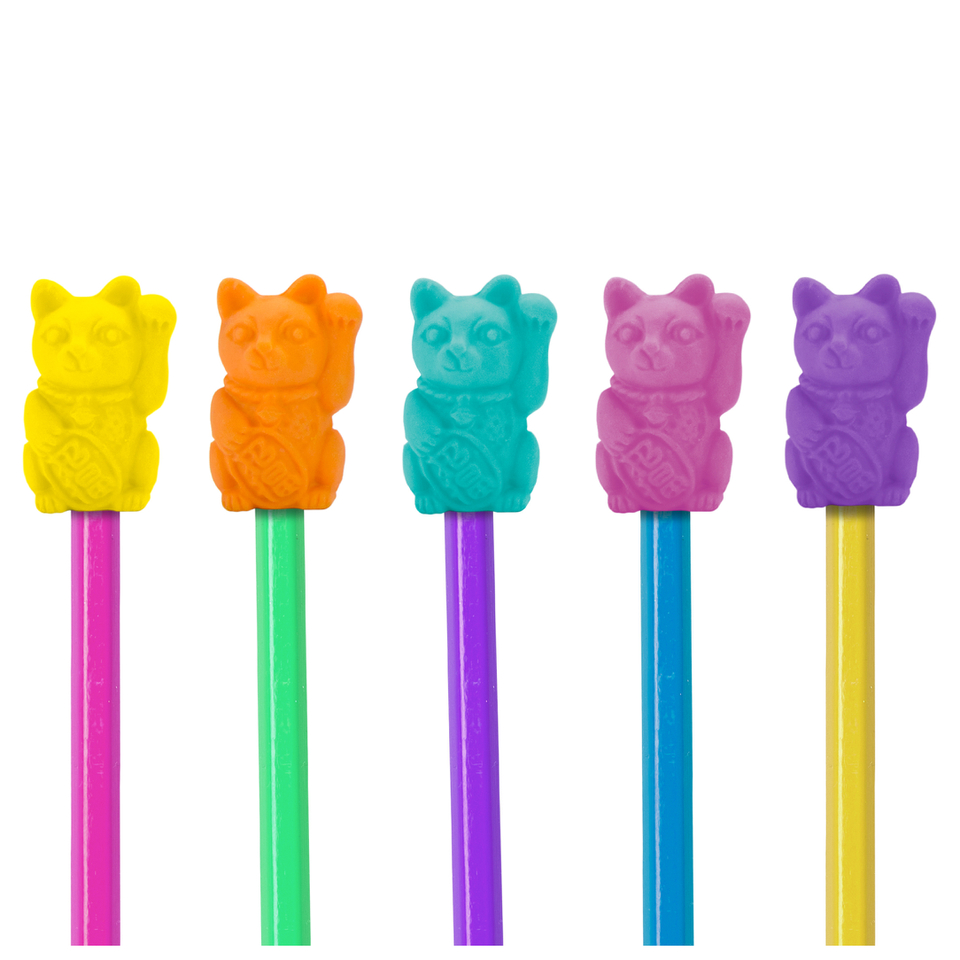 lucky-cat-eraser-toppers