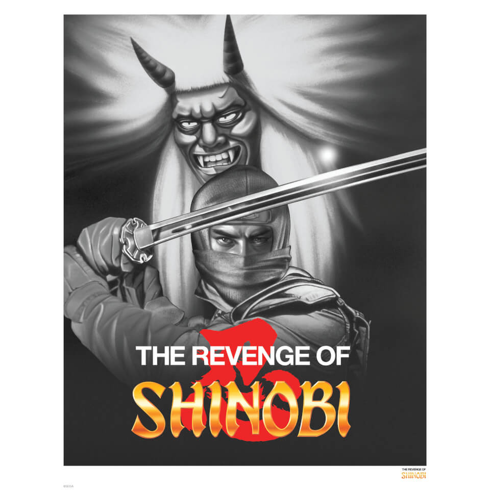 revenge-of-shinobi-black-white-variant-edition-giclee-art-print-timed-sale