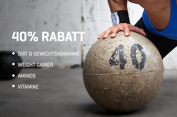 40% bei Myprotein auf z.B. Omega 3/6/9, Alpha Men Vitamie, Kreatin Monohydrat, uvm.