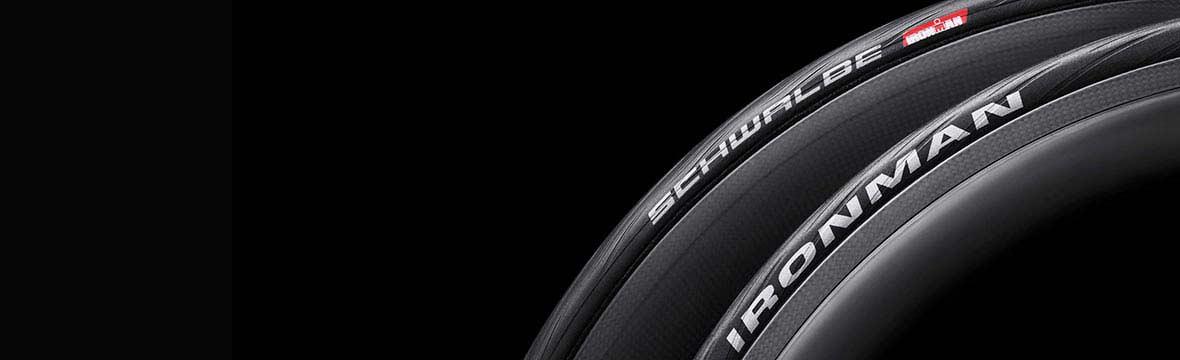Two Schwalbe bike tyres