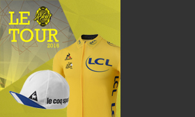 TDF jersey and cap