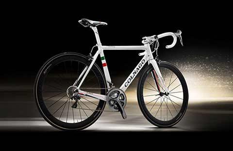 White Colnago bike