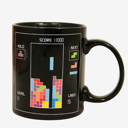 Father's Day Gifts for Retro Dads - Tetris Heat Changing Mug