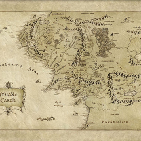 Father's Day Gifts for Geeky Dads - The Hobbit Middle Earth Map