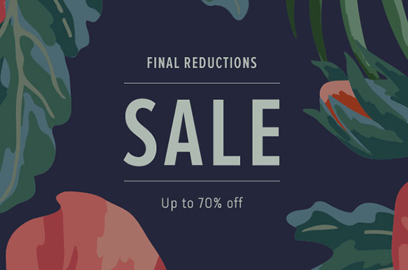 Save up to 70% off end of season clearance at Coggles.