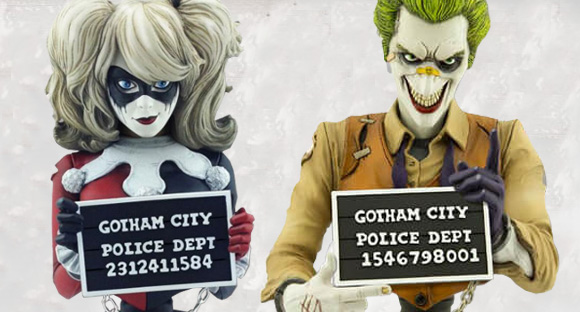 CRYPTOZOIC ENTERTAINMENT JOKER & HARLEY QUINN MUGSHOTS