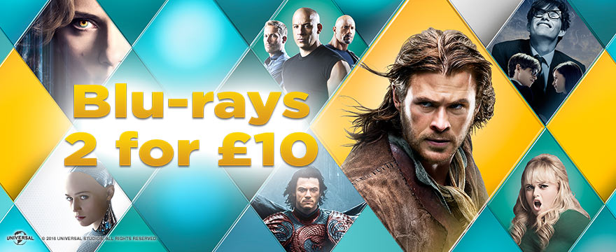 2 FOR £10 BLU-RAY