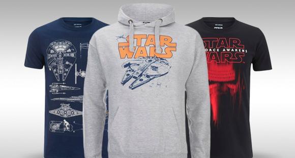 STAR WARS T-SHIRT & HOODY SLECHTS €40