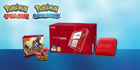 Nintendo 2DS Transparent Red Pokemon Pack