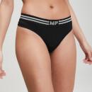 MP Women's Essentials Seamless Thong - Black - XS