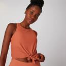 MP Women's Rib Tie Front Vest - Pumpkin Spice