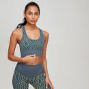 MP Women's Animal Zebra Seamless Sports Bra - Slate/Stargazer - XS