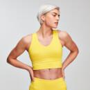 Power 力量系列 女士交叉運動內衣 - 黃色 - XS