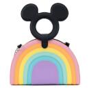 Loungefly Disney Mickey Mouse Pastel Rainbow Handle Cross Body Bag