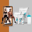 Набор для наращивания мышц + Программа питания и тренировок - Cola - Blue Raspberry - Banana