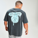 MP x Zack George Acid Wash Oversized Tee - Neon Blue