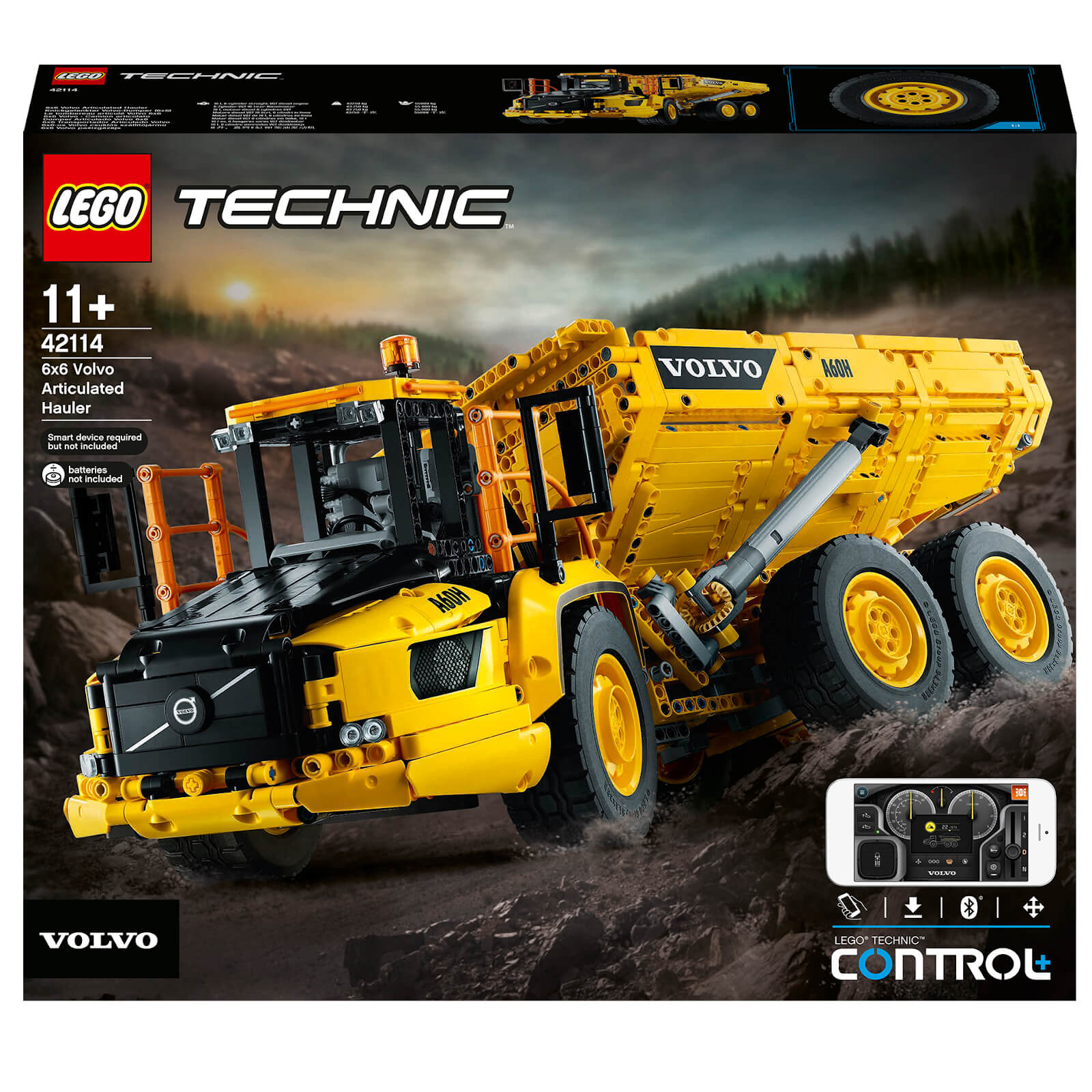 Building Kit 2,193 Pieces LEGO Technic 6x6 Volvo Articulated Hauler 42114 Volvo Truck Toy Model for Kids Who Love Construction Vehicle Playsets New 2020