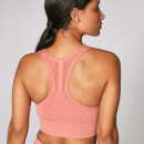 Acid Wash Sports Bra - Kupferrosé