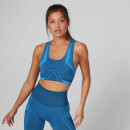 MP Women's Seamless Ultra Tonal Sports Bra - Navy/Ibiza Blue - XS