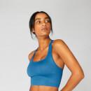 Shape Seamless 無縫系列 女士交叉運動內衣 - 藍