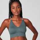 MP Luxe Ribbed Seamless Sports Bra - Castle Rock - XS