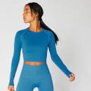 MP Women's Shape Seamless Crop Top — Ibiza Blue - XS