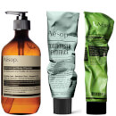 Image of Aesop Body Scrub, Body Cleanser and Toothpaste Bundle %EAN%