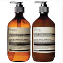 Image of Aesop Geranium Cleanser and Reverence Hand Wash Duo %EAN%