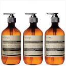 Image of Aesop Geranium Cleanser, Resurrection and Reverence Hand Wash Bundle %EAN%