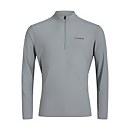 Men's 24/7 Long Sleeve Zip Base Layer - Grey - XS