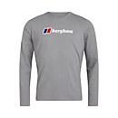 Men's Organic Big Logo Long Sleeve T-Shirt - Dark Grey