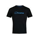 Men's Organic Big Colour Logo T-Shirt - Black - XS